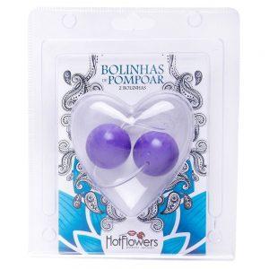 Bolinha Pompoar Media 02 Unidades HOT FLOWERS | Sex Boutique Erótica