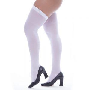 Meia Fina Branca 7/8 Perrutextil | Sex Boutique Erótica
