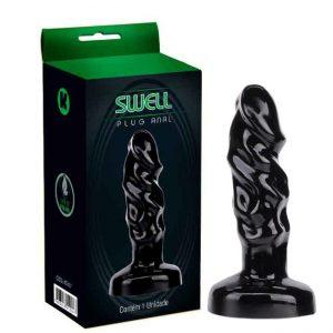 Plug Anal 12X3 Cm Formato Penis Cor Preto | Sex Boutique Erótica