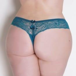 Fio Dental Cós de Renda Plus Size Azul Marinho Minha Calcinha | Sex Boutique Erótica