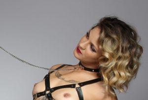 Coleira Com Guia e Corrente Sado Maso | Sex Boutique Erótica