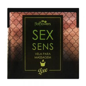 VELA SEX SENS MASSAGEM AROMÁTICA 20G HOT FLOWERS | Sex Boutique Erótica